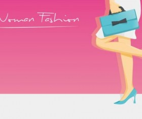 Woman fashion background vector design 04