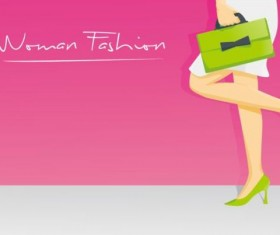 Woman fashion background vector design 05