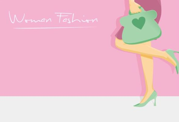 Woman Fashion Background Vector Design 06 Vector