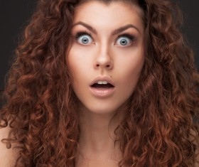Woman shocked expression HD picture