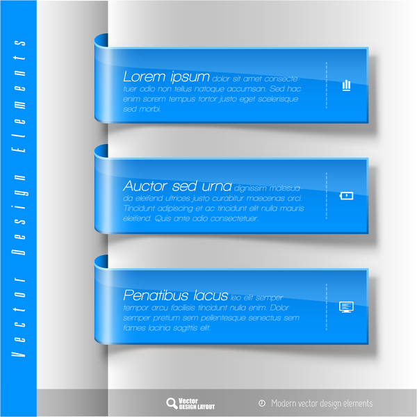 Wrap angle business banners vector