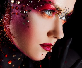Young attractive girl in bright art-makeup HD picture 03