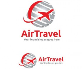 air travel red logo design vector