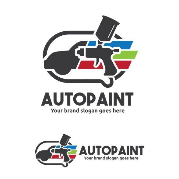 auto paint logo design vector