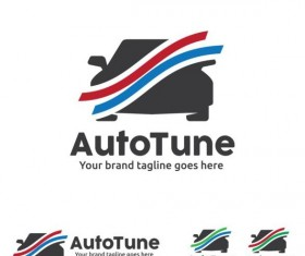 auto tune logo design vector