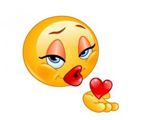 blowing kiss female expression icon