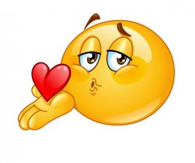 blowing kiss male expression icon