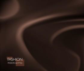 brown smooth silk background vector