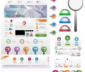 button timeline design vector 01