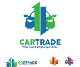 car trade logo design vector