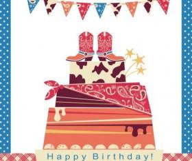 cowboy party cake vector