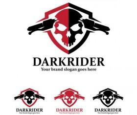 dark rider logo design vector