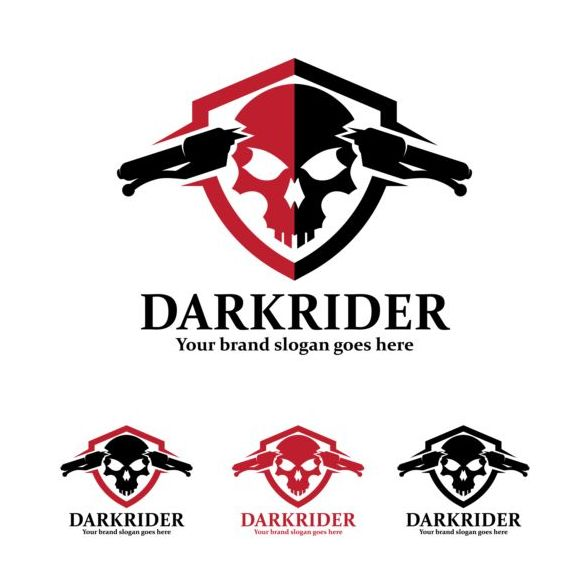dark rider logo design vector