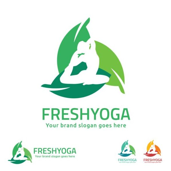Fresh Yoga Logo Design Vector Free Download