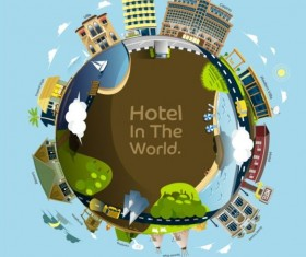 hotel in hte world vector material
