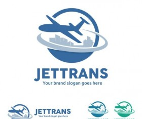 jettrans logo design vector