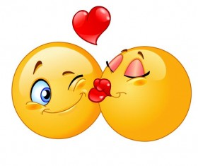 kissing expression icon 02