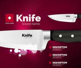 knife poster template vector design 10