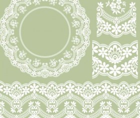 lace border with frame vectors 01