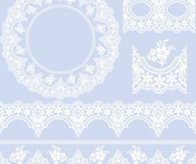 lace border with frame vectors 02