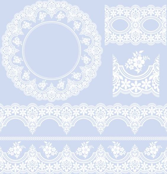 lace border with frame vectors 02 - Vector Floral free ...