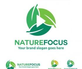 nature focus logo design vector