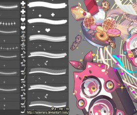 sparkle cross heart note photoshop brushes