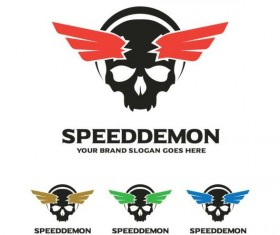speed demon logo design vector