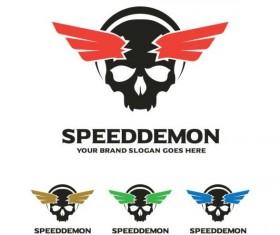 speed demon logo design vector