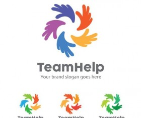 team help logo design vector