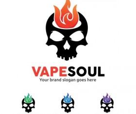 vape soul logo design vector