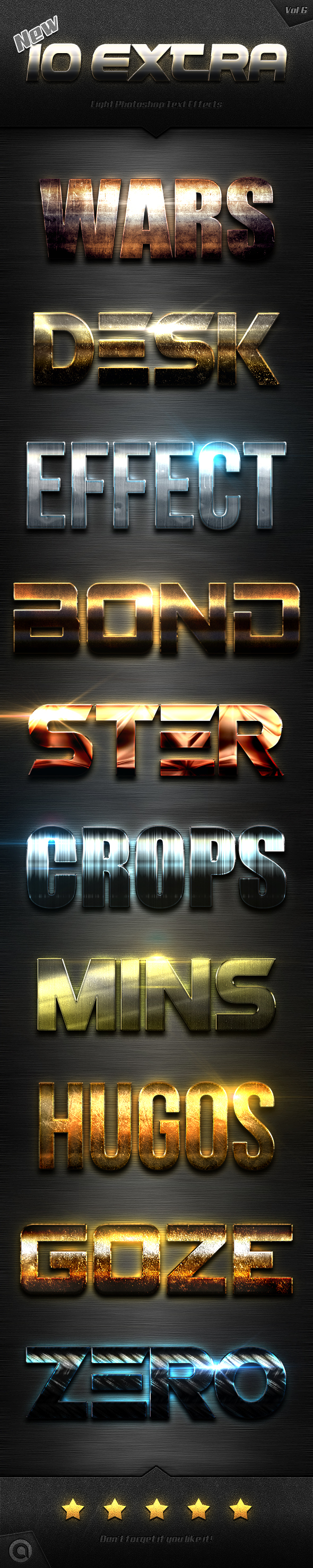 10 Kind Extra Light Text Effects