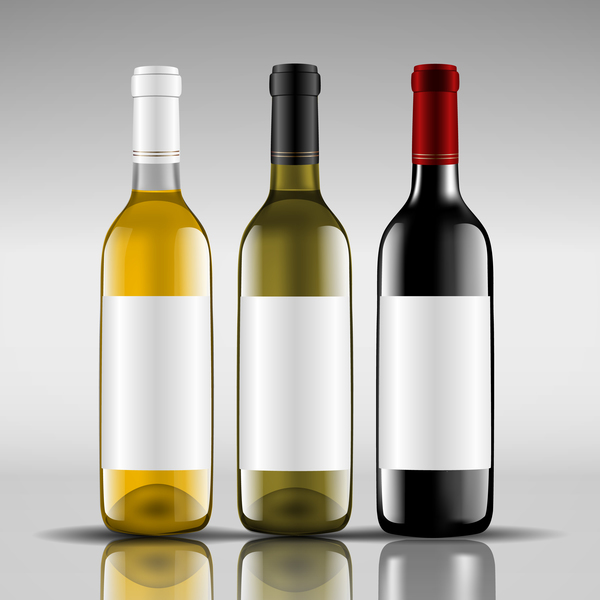 3 Kind Wine bottle vector