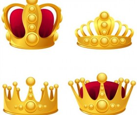 4 Kind glowing crown illustration vector