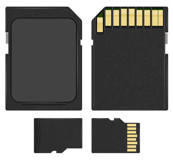 4 kind memory card vector