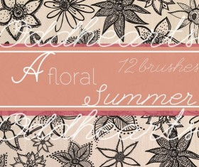 A floral Summer photoshop brushes