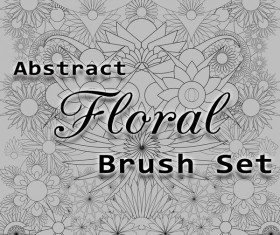 Abstract Floral photoshop brushes set
