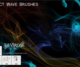 Abstract Wave lines photoshop brushes