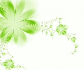 Abstract green floral background HD picture 01