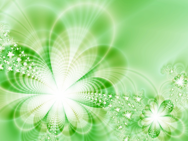 Abstract green floral background HD picture 02