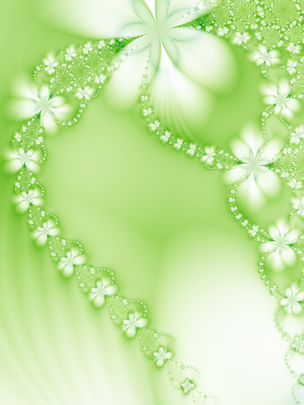 Abstract green floral background HD picture 03