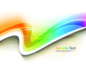 Abstract wavy and lines vector background