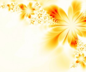 Abstract yellow flower background Stock Photo 02