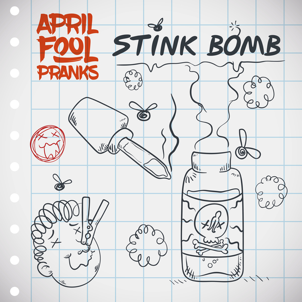 April fools prank hand darwing vector 06
