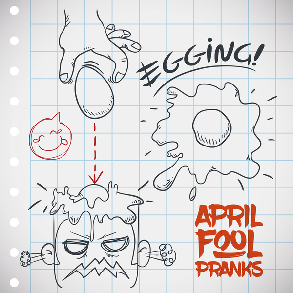 April fools prank hand darwing vector 07