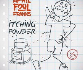 April fools prank hand darwing vector 09