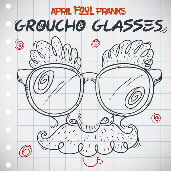 April fools prank hand darwing vector 11