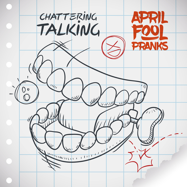 April fools prank hand darwing vector 13