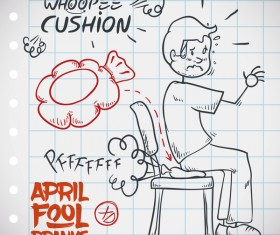 April fools prank hand darwing vector 15