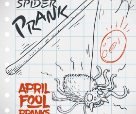 April fools prank hand darwing vector 18